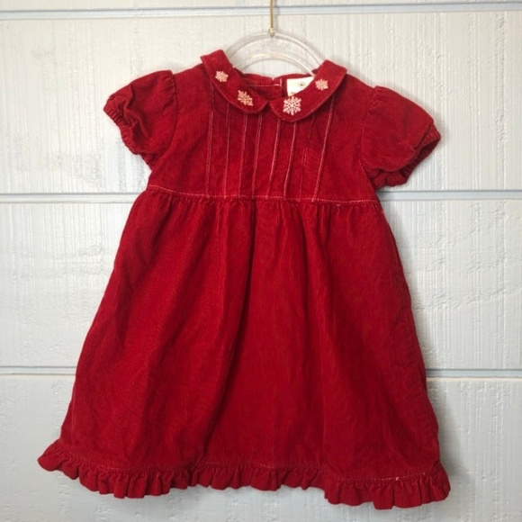 Hanna Andersson Other - Hanna Andersson 80/2 Red Dress Corduroy